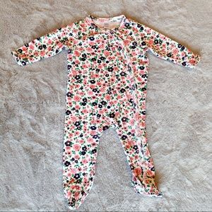 Nordstrom Baby Girl Footed Romper Pink Floral 6M